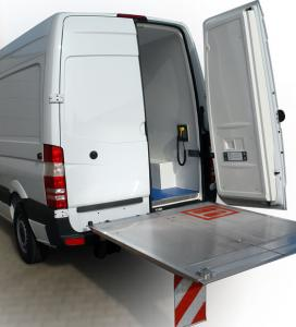 Protect your employees from injury by adding a liftgate to your J&B custom upfit. If your dealing with heavy equipment, make sure you are getting the lift assistance you need. For more information please call our sales team at 800-330-1229.